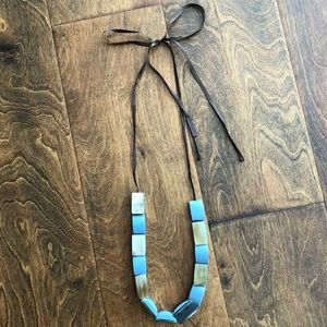 Marni Resin Bead Long Ribbon Necklace
